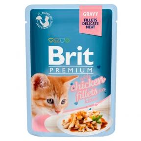 Brit Premium Cat pouch для котят филе курицы в соусе 85г