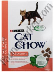 CAT CHOW Sensitive для кошек с чувствительным пищеварением 400г