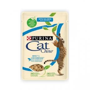 CAT CHOW с лососем и зеленым горошком 85г