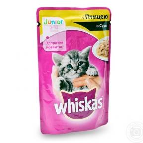 Вискас консервы для котят курица в соусе 100 г