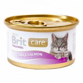 Brit Care Cat с тунцом и лососем 80г