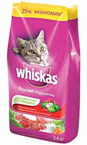 Whiskas Мясное ассорти с овощами 13кг