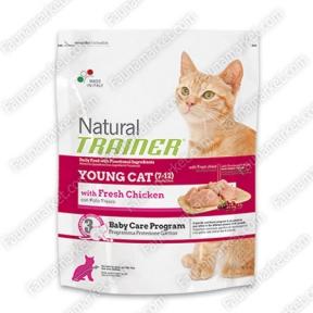 Trainer Natural YOUNG CAT With Fresh Chicken для молодых кошек в возрасте 7-12 месяцев со свежей курицей