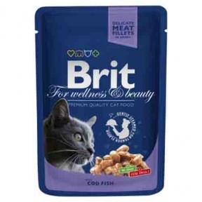 Brit Premium Cat pouch с треской 100г
