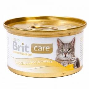 Brit Care Cat с куриной грудкой и сыром 80г