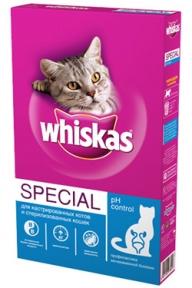 Whiskas Special сухой корм для кошек при мочекаменной болезни