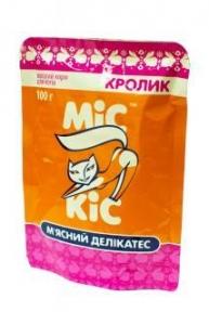 Мис Кис консервы для котов с мясом кролика пауч 100 г