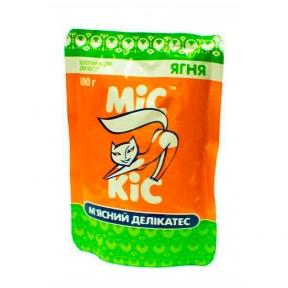 Мис Кис консервы для котов с мясом ягнёнка пауч 100 г