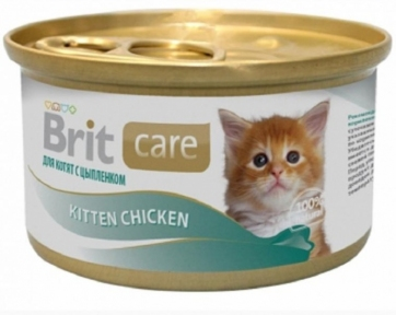 Brit Care Cat Kitten для котят с курицей 80г