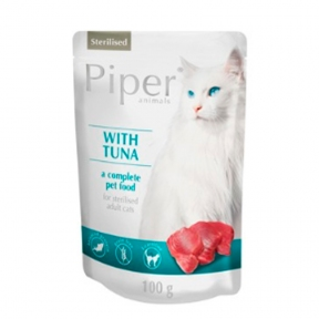 Dolina Noteci Piper cat для стерилизованных котов с тунцом и лососем Пауч 100 г