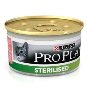 Про План Консервы для стерилизованных котов тунец и лосось 85 г