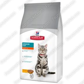 Hills SP Feline Adult Indoor Cat с курицей для кошек которые живут внутри помещений