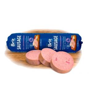 Brit Premium Dog Sausage колбаса с курицей и кроликом 800г