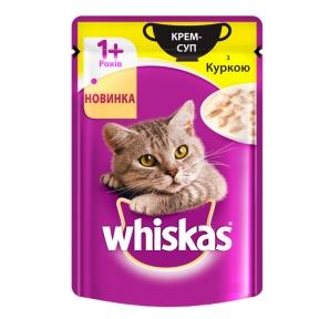 Вискас консервы для кошек Крем-суп с курицей 85 г