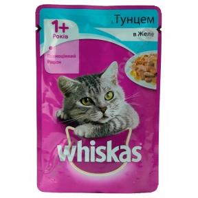 Вискас консервы для кошек тунец в желе 100 г