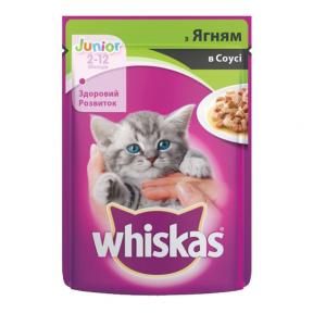 Вискас консервы для котят с ягненоком 100 г
