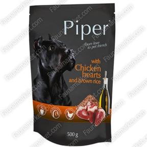 Dolina Notice Piper Dog куриное сердце и коричневый рис 150г