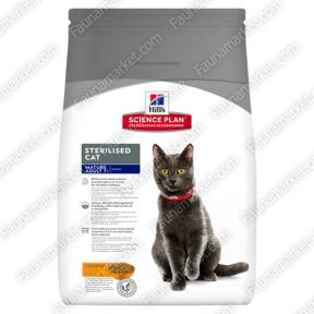 Hills SP Feline Mature Adult 7+ Sterilised Cat с курицей для кастрированных котов и стерилизованных кошек старше 7 лет