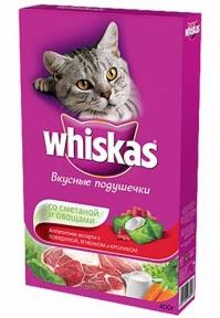 Whiskas корм для котов Овощи под сметаной с говядиной, кроликом и ягненком 400г