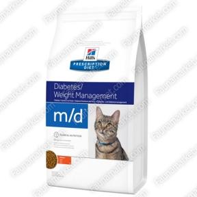 Hills PD Feline M/D для кошек с сахарным диабетом 1,5кг