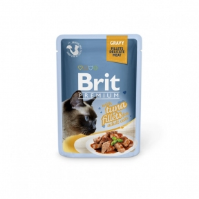 Brit Premium Cat pouch филе тунца в соусе 85г