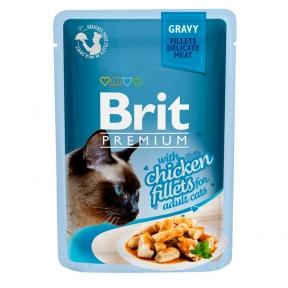 Brit Premium Cat pouch филе курицы в соусе 85г
