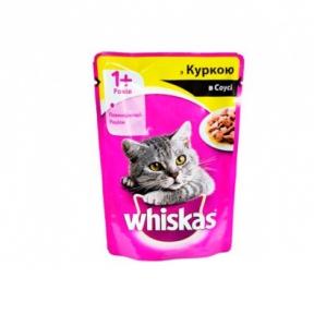 Вискас консервы для кошек Курица в соусе 100 г