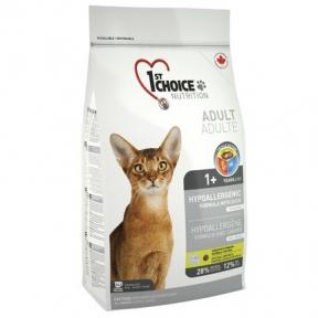 1st Choice Adult Hypoallergenic Cat гиппоалергенный корм для кошек