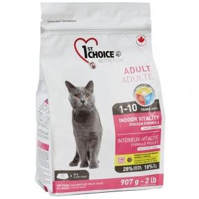 1st Choice Adult Indoor Vitality корм для котов с курицей
