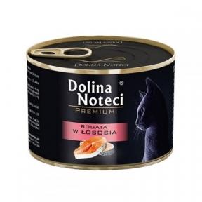 Dolina Noteci Premium консервы для кошек 185гр мясные кусочки с лососем в соусе 383789/303787
