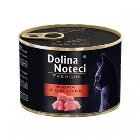 Dolina Noteci Premium консервы для кошек 185гр мясные кусочки с телятиной в соусе 383772/303770