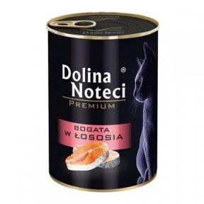 Dolina Noteci Premium консервы для кошек 400гр мясные кусочки с лососем в соусе 383734/303732