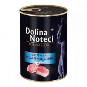 Dolina Noteci Premium консервы для кошек 400гр мясные кусочки с ягненком в соусе 383758/303756
