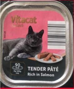 Паштет для котов VitaCat с лососем 100 г Европа 221225