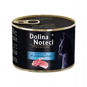 Dolina Noteci Premium консервы для кошек 185гр мясные кусочки с ягненком в соусе 383802/303800