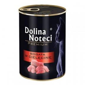Dolina Noteci Premium консервы для кошек 400гр мясные кусочки с телятиной в соусе 383727/303725