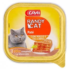 Паштет для котов Randy Cat с птицей 100 г Европа 220571
