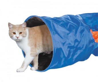 Тоннель для котов голубой 115*30см Нобби 80221