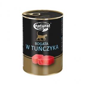 Dolina Noteci Natural Taste Cat консервы для кошек 400г мясные кусочки с тунцом в соусе 303855