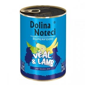 Dolina Noteci Premium Superfood консервы для собак 400г теленок и ягнененок 383666/303664