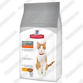 Hills SP Feline Adult Young Sterilised Cat с курицей для стерилизованных кошек и кастрированных котов