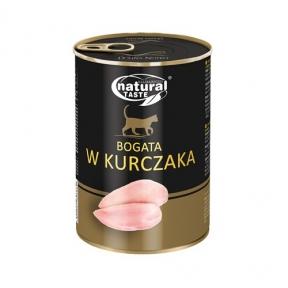 Dolina Noteci Natural Taste Cat консервы для кошек 400г мясные кусочки с курицей в соусе 303862