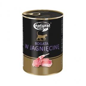Dolina Noteci Natural Taste Cat консервы для кошек 400г мясные кусочки с ягненком в соусе 303893