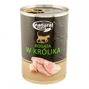 Dolina Noteci Natural Taste Cat консервы для кошек 400г мясные кусочки с кроликом в соусе 303886