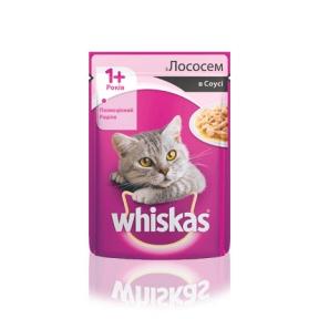 Вискас консервы для кошек лосось в соусе 100 г