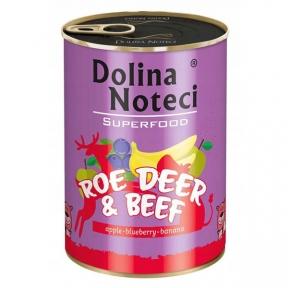 Dolina Noteci Premium Superfood консервы для собак 400г косуля и говядина 383581/303589