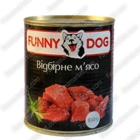 FUNNY DOG с отборным мясом 830г