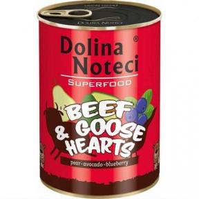Dolina Noteci Premium Superfood консервы для собак 800г говядина и гусиное сердце 383635/303633