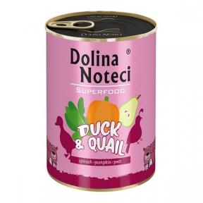 Dolina Noteci Premium Superfood консервы для собак 800г утка и перепелка 383598/303596
