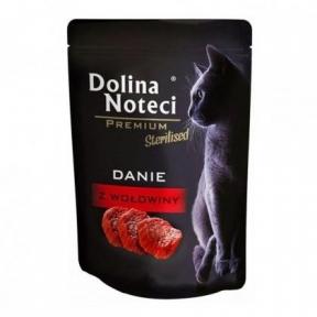 Dolina Noteci Premium консервы для стерилизованных кошек с говядиной 85г 383208/303206